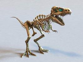 Skeletal Dinosaur 3d model preview