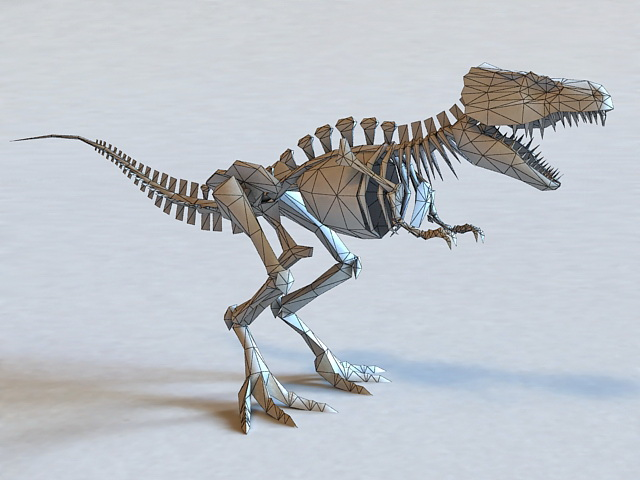 Skeletal Dinosaur 3d rendering