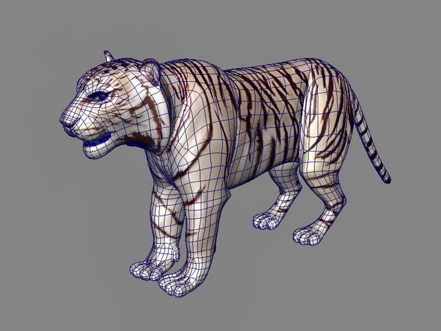 Maltese Tiger 3d rendering