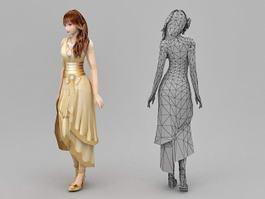 Girl Formal Dresses 3d model preview