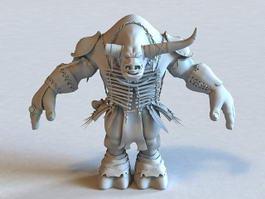 Warcraft Tauren 3d model preview