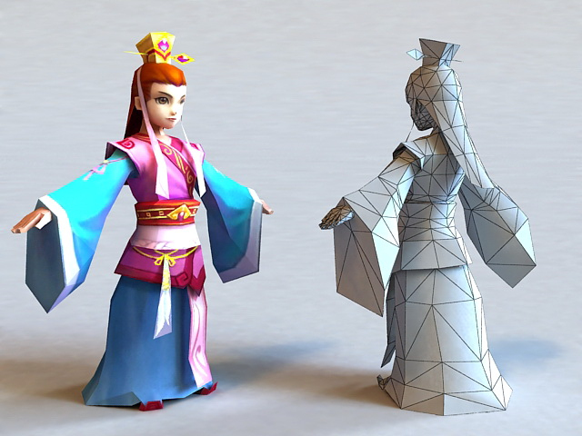 Ancient Chinese Prince Boy 3d rendering