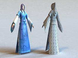Ancient Chinese Scholar 3d preview