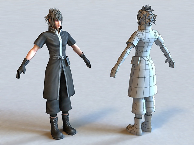 FF Male Character 3d model 3ds Max,Maya,Object files free