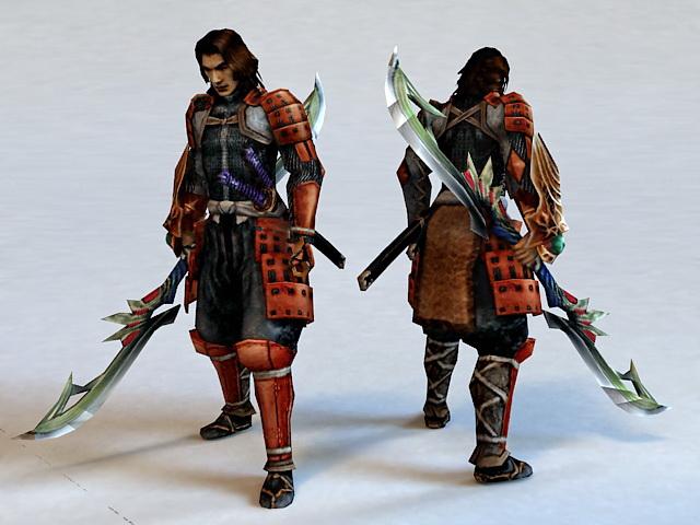 Ninja Samurai Warrior 3d rendering