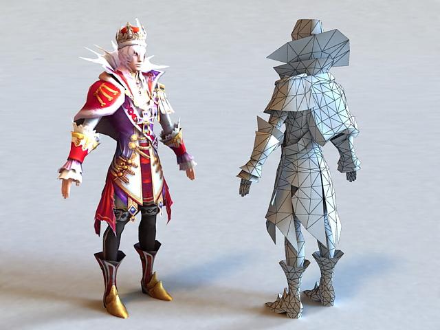 Fantasy Prince 3d rendering