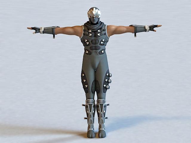 Ninja Assassin 3d rendering