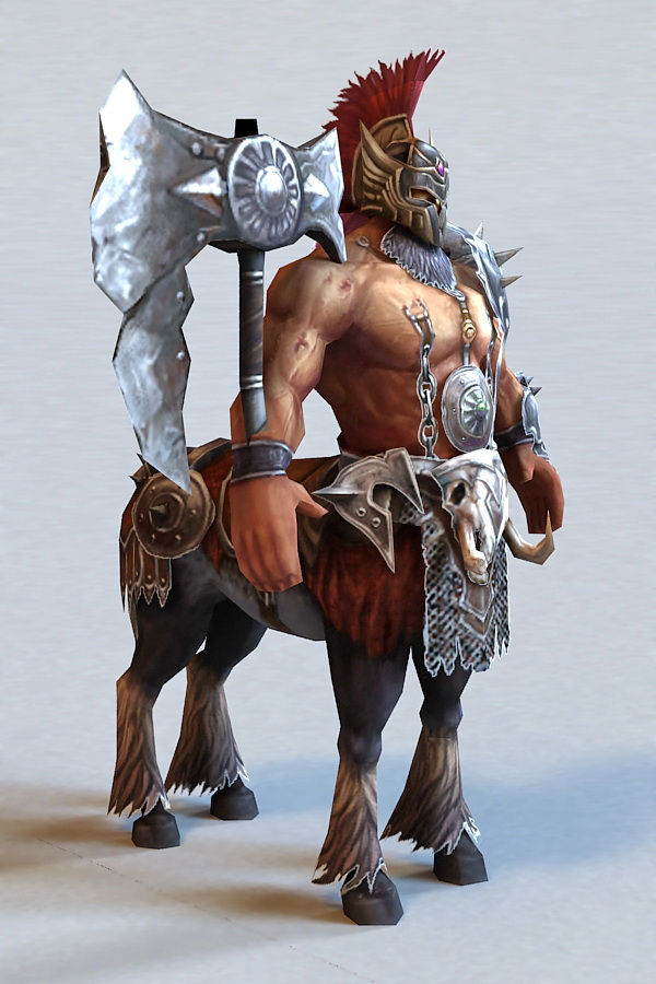 Centaur Warrior Rigged 3d Model 3ds Max Files Free