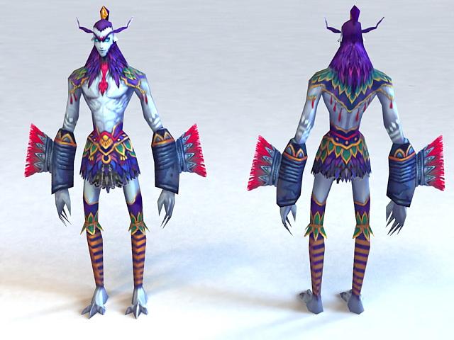 Troll Warrior 3d rendering