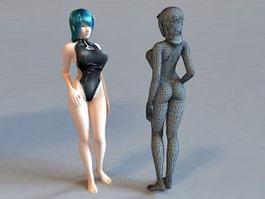 Bikini Scene Girl 3d preview