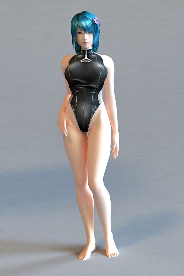 Bikini Scene Girl 3d Model 3ds Max Files Free Download