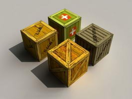 Military Crate Boxes 3d preview