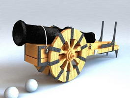 Pirate Cannon 3d model preview