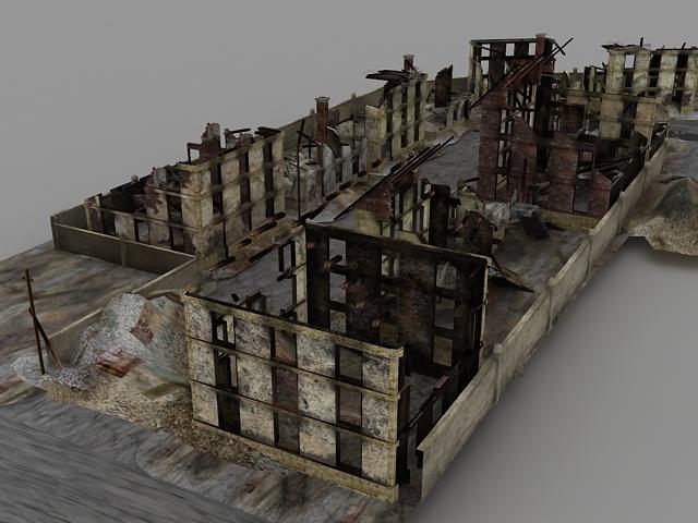 Warzone Ruins 3d rendering