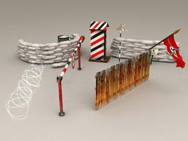 Military WW2 Fortifications 3d preview