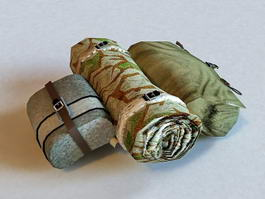Military Surplus Backpack Harness 3d preview