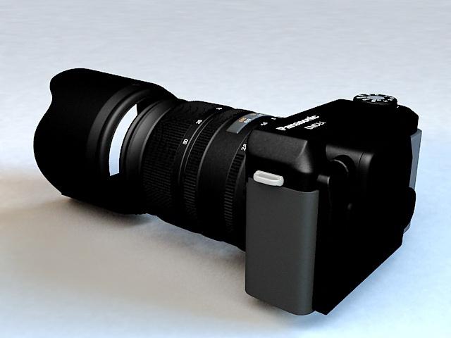 Panasonic SLR Digital Camera 3d rendering