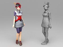 Elegant Asian Beauty 3d model preview