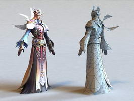 Male Elf Cleric 3d preview