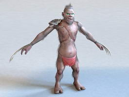Monster with Claws 3d model preview