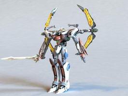 Super Robot Chogokin Solar Aquarion 3d model preview