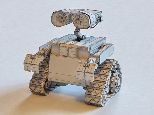 WALL-E Robot 3d rendering