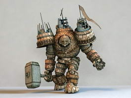 Iron Giant Monster 3d model preview