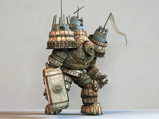Iron Giant Monster 3d rendering