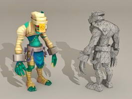 Humanoid Monster Creature 3d model preview