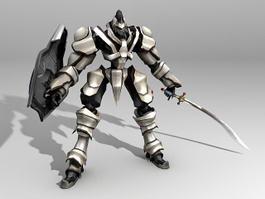 Futuristic Robot Warrior 3d model preview
