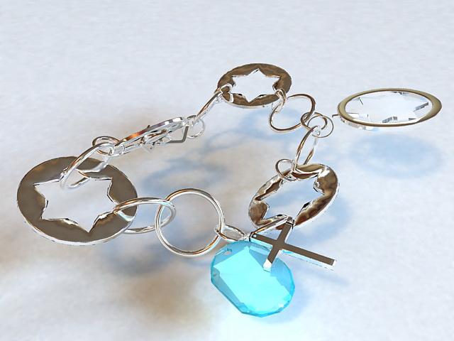 Bracelet with Gem 3d rendering