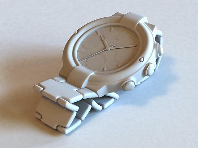 Old Wrist Watch 3d rendering