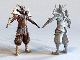 FFXIV Dragoon Armor 3d preview