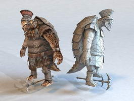 Turtle Warrior 3d model preview