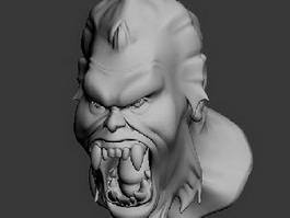 Monster Head 3d model preview