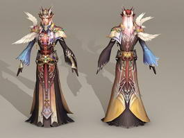 Male Blood Elf Priest 3d preview