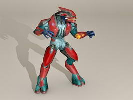 Robot Fight Stance 3d model preview