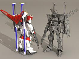 Futuristic Mech Artwork 3d model preview
