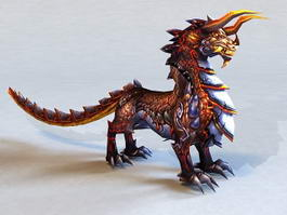 Chinese Qilin 3d preview
