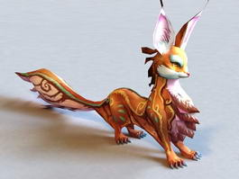 Mythical Fox Creature 3d model preview