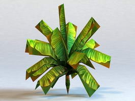 Banana Tree Low Poly 3d preview