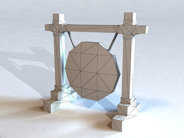 Ancient Gong 3d rendering