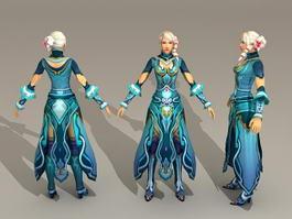 Beautiful Warrior Woman 3d model preview