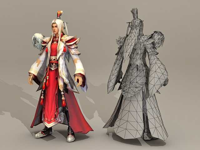 Ancient Chinese Prince 3d rendering
