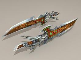 Dragon Fantasy Dagger 3d model preview