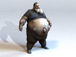 Fat Zombie 3d model preview