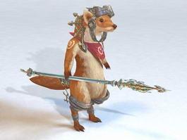 Ferret Warrior 3d model preview