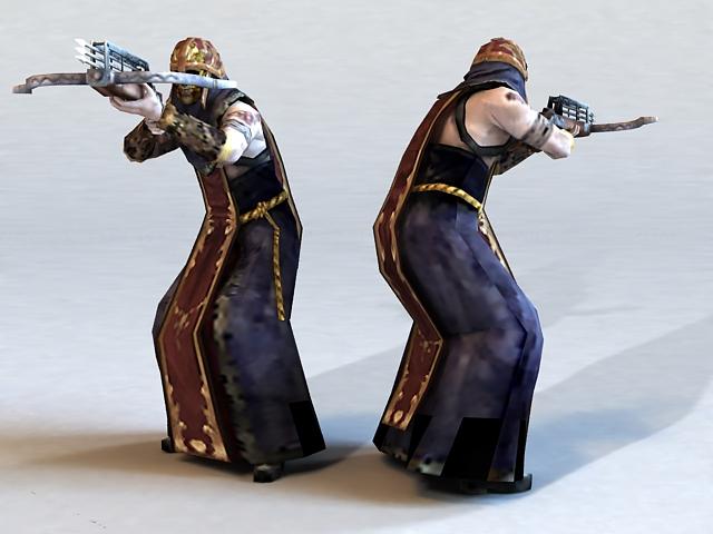 Skeleton Shooter 3d rendering