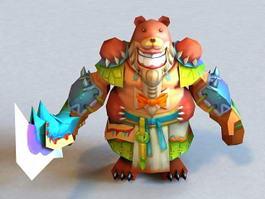 Bear Warrior 3d model preview
