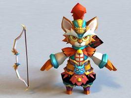Anime Tiger Archer 3d model preview